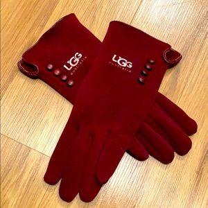 UGG  Burgundy texting gloves